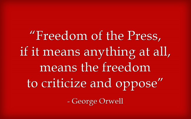 freedom of the press by george