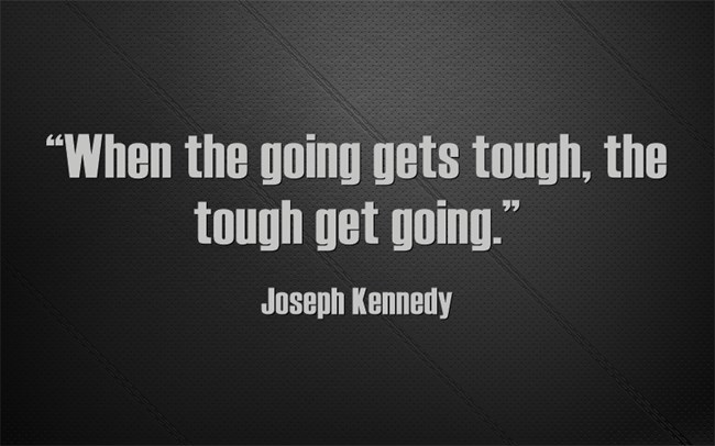 Inspirational quote on the importance of persistence in achieving success